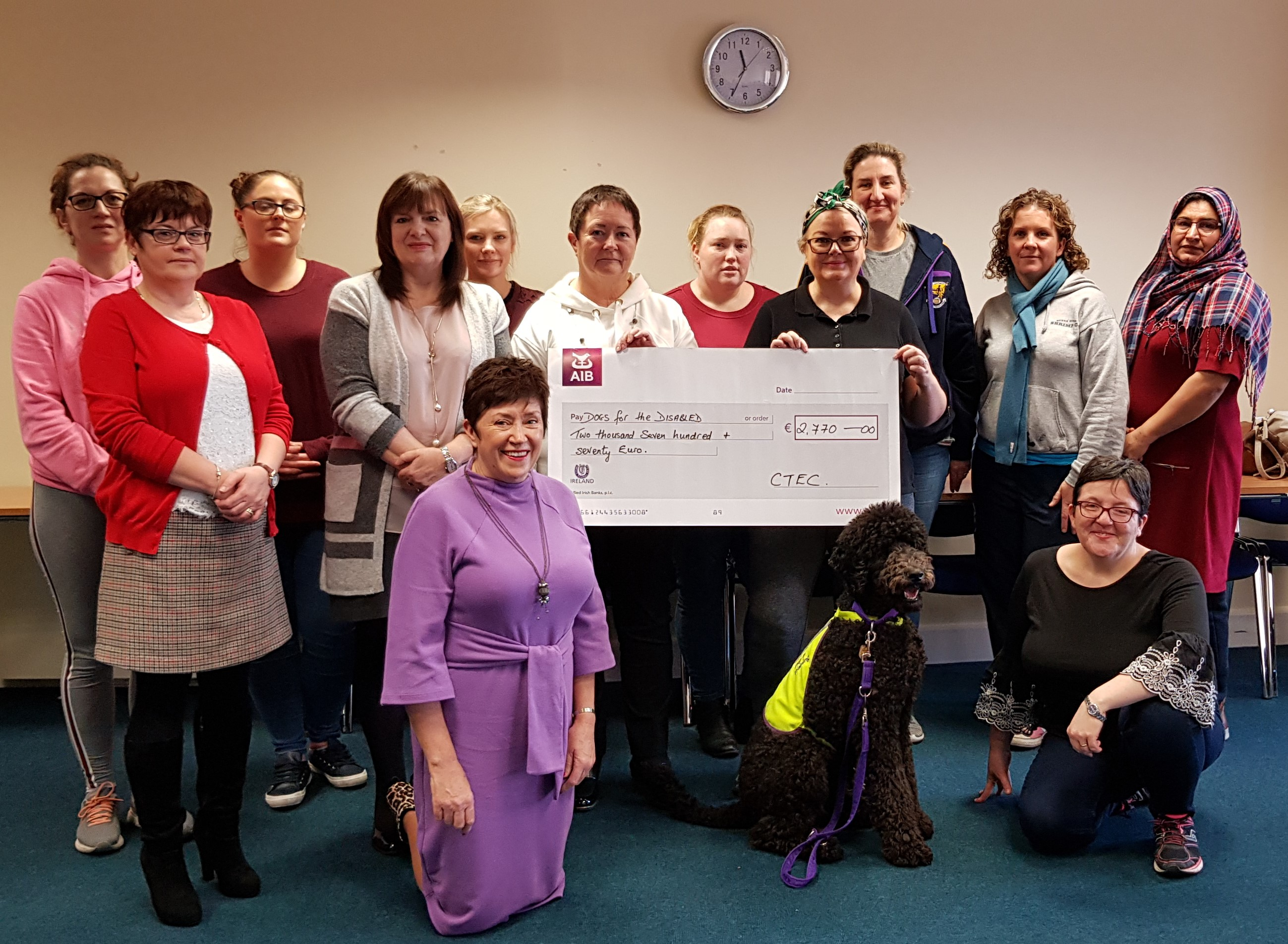 Cheque Presentation for Dogs for the Disabled